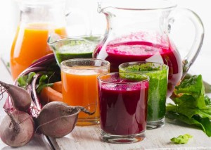 Gesunde Säfte mit vielen Vitaminen