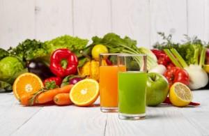 Saftfasten mit Obst- und Gemüsesäften