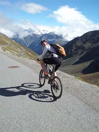 Thorsten auf dem Rennrad am Gaislachkogel